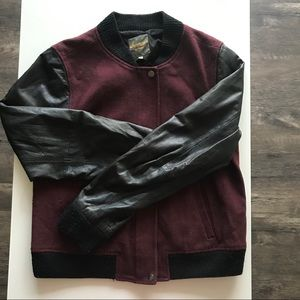 Urban Outfitters Leather bomber jacket
